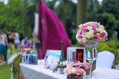 A decoração do casamento Fotos de Stock Royalty Free