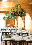 Decoração do casamento de Beautyful Interior Wedding Decoração festiva fotografia de stock