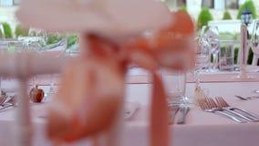Decoração do casamento. Decoração do partido. vídeos de arquivo