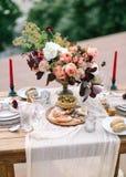 Decoração do casamento Interior Wedding Decoração festiva foto de stock royalty free