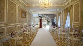 Decoração do casamento, o lugar da cerimônia de casamento, cerimônia de casamento, arco, decorações do casamento filme