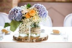 Decoração do casamento do vintage para o dia do casamento fotografia de stock royalty free