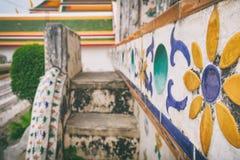 Decoração do close-up de Wat Arun, Banguecoque, Tailândia Imagem de Stock Royalty Free