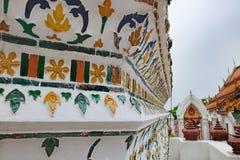 Decoração do close-up de Wat Arun, Banguecoque, Tailândia Imagens de Stock Royalty Free