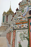 Decoração do close-up em Wat Arun, Banguecoque, Tailândia Fotografia de Stock