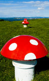 Decoração do cogumelo Imagens de Stock Royalty Free