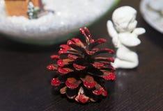 Decoração do cone para o Natal Imagens de Stock Royalty Free