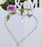 Decoração do coração do casamento foto de stock