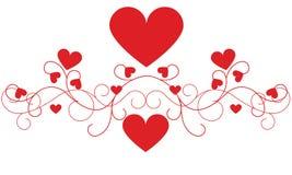 Decoração do coração do dia de Valentim Foto de Stock Royalty Free