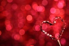 Decoração do coração do Valentim Fotos de Stock