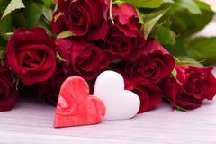 Decoração do coração para o dia de matrizes wedding Fotos de Stock