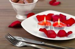 Decoração do dia de Valentim Fotos de Stock Royalty Free
