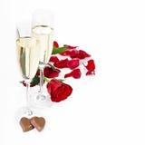 Decoração do dia de Valentim Fotos de Stock