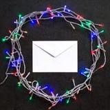 Decoração do envelope e do Natal Fotos de Stock Royalty Free