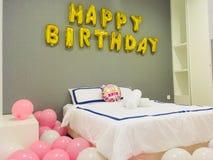 Decoração do feliz aniversario imagens de stock royalty free