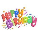 Decoração do feliz aniversario Fotos de Stock