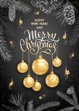 Decoração 2019 do Feliz Natal fotografia de stock royalty free