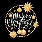 Decoração 2019 do Feliz Natal foto de stock