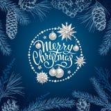 Decoração 2019 do Feliz Natal imagem de stock royalty free