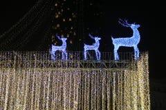 Decoração do feriado com cervos imagens de stock royalty free