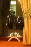decoração do feriado da sala de estar do hotel foto de stock royalty free