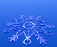 Decoração do floco de neve ilustração royalty free
