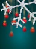 Decoração do floco de neve do Natal Foto de Stock