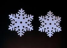 Decoração do floco de neve do Natal de feltro Foto de Stock