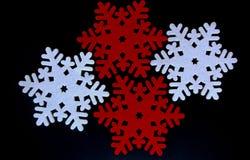 Decoração do floco de neve do Natal de feltro Fotos de Stock