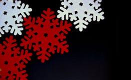 Decoração do floco de neve do Natal de feltro Fotos de Stock Royalty Free