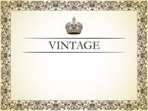Decoração do frame do vintage Imagens de Stock