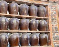 Decoração do frasco da parede de tijolo Imagem de Stock