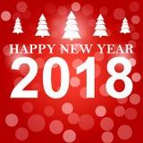 Decoração 2018 do fundo do ano novo feliz Confetes do molde 2018 do projeto de cartão Ilustração do vetor da data 2018 Fotos de Stock Royalty Free