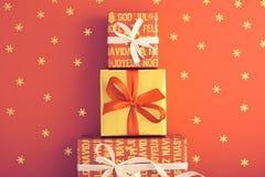 Decoração do fundo do Natal Projeto feito a mão Imagens de Stock