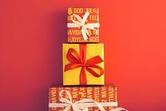 Decoração do fundo do Natal Projeto feito a mão Imagens de Stock Royalty Free