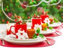 Decoração do jantar do Natal Imagens de Stock Royalty Free