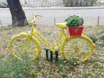 A decoração do jardim, bicicleta, outono, sae Fotos de Stock Royalty Free