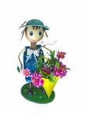 Decoração do jardim da boneca fotografia de stock royalty free