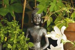 Decoração do jardim de Gautama Buddha foto de stock
