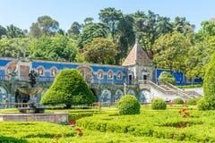 Decoração do jardim e do Azulejo no palácio dos marqueses de Fronteira em Lisboa - Portugal Fotografia de Stock Royalty Free