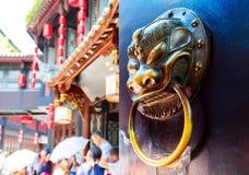 Decoração do leão da porta Foto de Stock