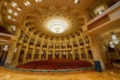 Decoração do luxo do palácio de Bucareste Ceausescu fotografia de stock