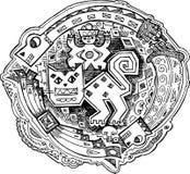 Decoração do Maya felino ilustração royalty free
