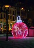 Decoração do mercado do Natal Fotografia de Stock