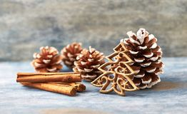 Decoração do Natal Árvore de Natal Tempo do Natal imagens de stock royalty free
