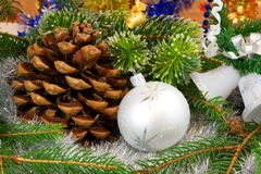 Decoração do Natal. fotografia de stock royalty free