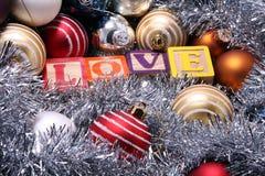 Decoração do Natal, amor Foto de Stock Royalty Free
