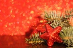 A decoração do Natal, aperfeiçoa para o cartão imagens de stock