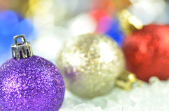 Decoração do Natal, bolas coloridas do Natal Foto de Stock Royalty Free