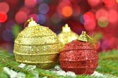 Decoração do Natal, bolas coloridas do Natal Imagem de Stock Royalty Free